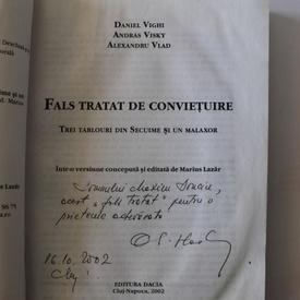 Alexandru Vlad, Daniel Vighi, Andras Visky - Fals tratat de convietuire (cu autograful lui Alexandru Vlad)