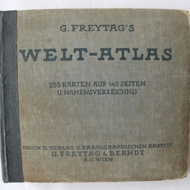 G. Freytag`s Welt-atlas (editie hardcover, interbelica, in limba germana)