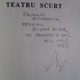 Iosif Naghiu - Teatru scurt (cu autograf)