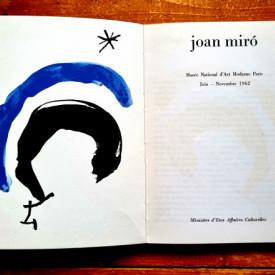 Jean Cassou, pref. - Joan Miro (catalogue d`exposition, Musee National d`Art Moderne Paris, Juin - Novembre 1962)