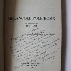 Petre Bucsa - Melancolii policrome (cu autograf)