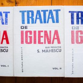 Prof. dr. Sergiu Manescu (coord.) - Tratat de igiena (3 vol., editie hardcover)
