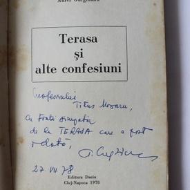 Aurel Gurghianu - Terasa si alte confesiuni (cu autograf)