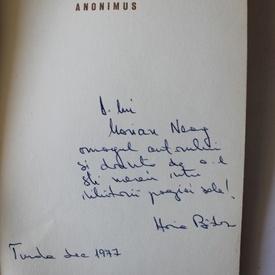 Horia Badescu - Anonimus (cu autograf)