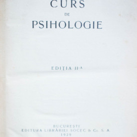 C. Radulescu-Motru - Curs de psihologie (editie interbelica, hardcover, frumos relegata)