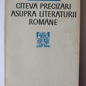 Al. Rosetti - Cateva precizari asupra literaturii romane