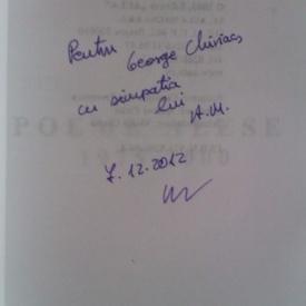 Alexandru Musina - Poeme alese (1975-2000) (cu autograf)