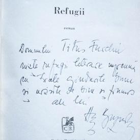 Augustin Buzura - Refugii (cu autograf)