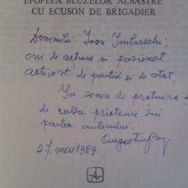 Augustin V. Pop - Lumini albastre (cu autograf)