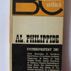 Colectiv autori - Al. Philippide (Biblioteca critica)
