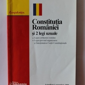 Constitutia Romaniei si doua legi uzuale