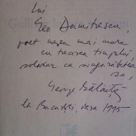 George Balaita - Gulliver in Tara Nimanui (cu autograf)