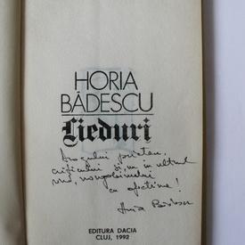 Horia Badescu - Lieduri (cu autograf si poezie in manuscris)