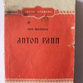 Ion C. Manole - Anton Pann (studii literare)