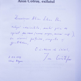 Ion Cristofor - Aron Cotrus, exilatul