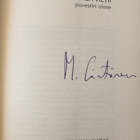 Mircea Cartarescu - Fata de la marginea vietii (editie hardcover, cu autograf/signed edition)