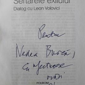 Norman Manea - Sertarele exilului. Dialog cu Leon Volovici (cu autograf)