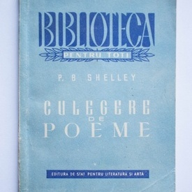 P.B. Shelley - Culegere de poeme