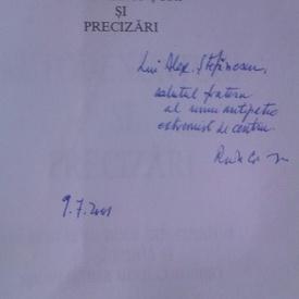 Radu Cosasu - Autodenunturi si precizari (cu autograf)
