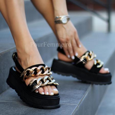 Sandale cu platforma Premium Chain