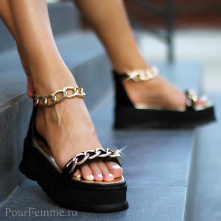 Sandale cu platforma Premim Slim Chain