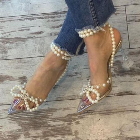 Pantofi Stiletto Bow