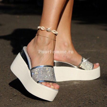 Papuci cu platforma Glamour ( + mai multe culori )