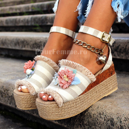 Sandale cu platforma Pretty Premium Colection
