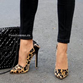 Pantofi Stiletto Premium Leopard