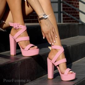 Sandale cu toc Premium Glamour (+culori)
