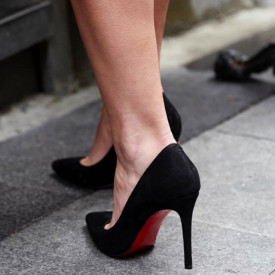 Pantofi Stiletto Premium Piele Naturala Black 8 cm