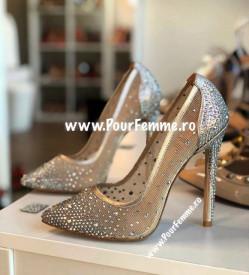 Pantofi Stiletto Premium Swarowsky