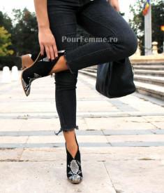 Botine Luisa Clasic Black