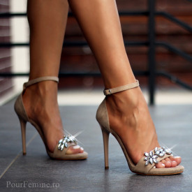 Sandale cu toc Premium Sapphire