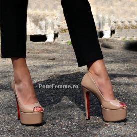 Pantofi Daffo Nude