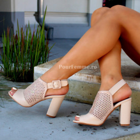 Sandale cu toc Tania