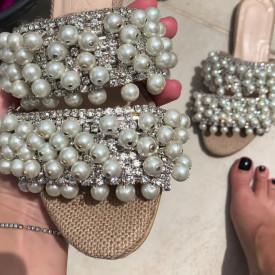 Sandale Premium Glossy Pearl