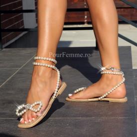Sandale Premium Shine Pearl Low