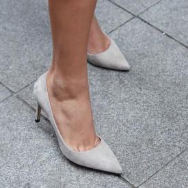 Pantofi Stiletto Premium Piele Naturala Sand 8 cm