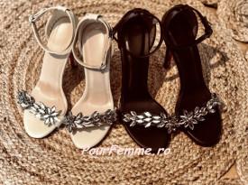Sandale Queens ( Crem / Nergu )