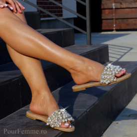 Papuci Premium Glossy Pearl