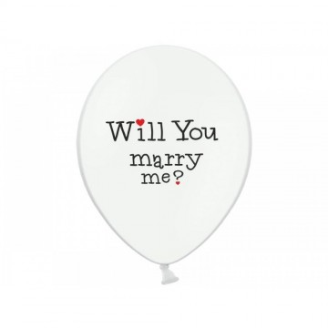 Baloane inscriptionate '' Will you marry me?'', 5 buc/set