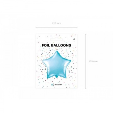 Balon folie stea, Bleu, 48 cm
