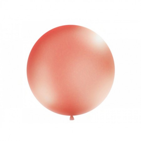 Balon latex metalizat, Jumbo, Rose gold, 1m
