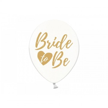 Baloane transparente inscriptionate ''Bride to be'', 30cm, 5buc/set