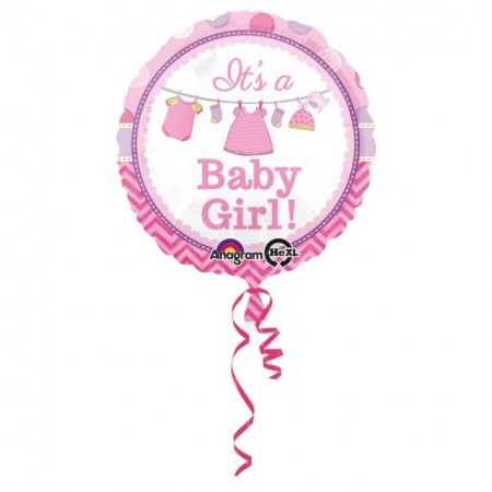 Balon folie metalizata, 43cm, It's a Baby Girl!