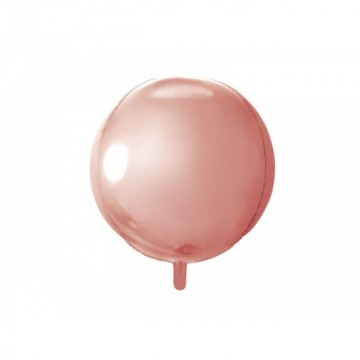 Balon folie sfera, Rose gold, 40cm