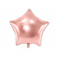 Balon folie stea, Rose gold