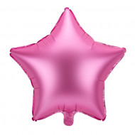 Balon folie stea Satin Roz 48cm