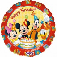 Balon folie metalizata, 43cm, Mickey Happy Birthday